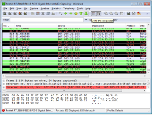hasil capture wireshark